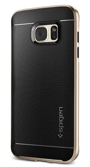 spigen Funda Galaxy S7 Edge, Carcasa [Neo Hybrid] Protección Interna Flexible y Marco de Parachoques Duro Reforzado para Samsung Galaxy S7 Edge, Oro