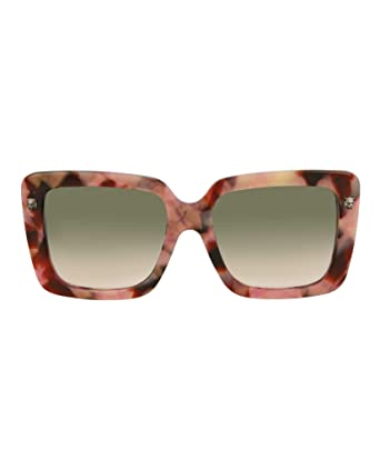 c8b5aa4cf5532 Amazon.com  Sunglasses Gucci GG 0216 SA- 004 HAVANA GREEN SILVER  Clothing