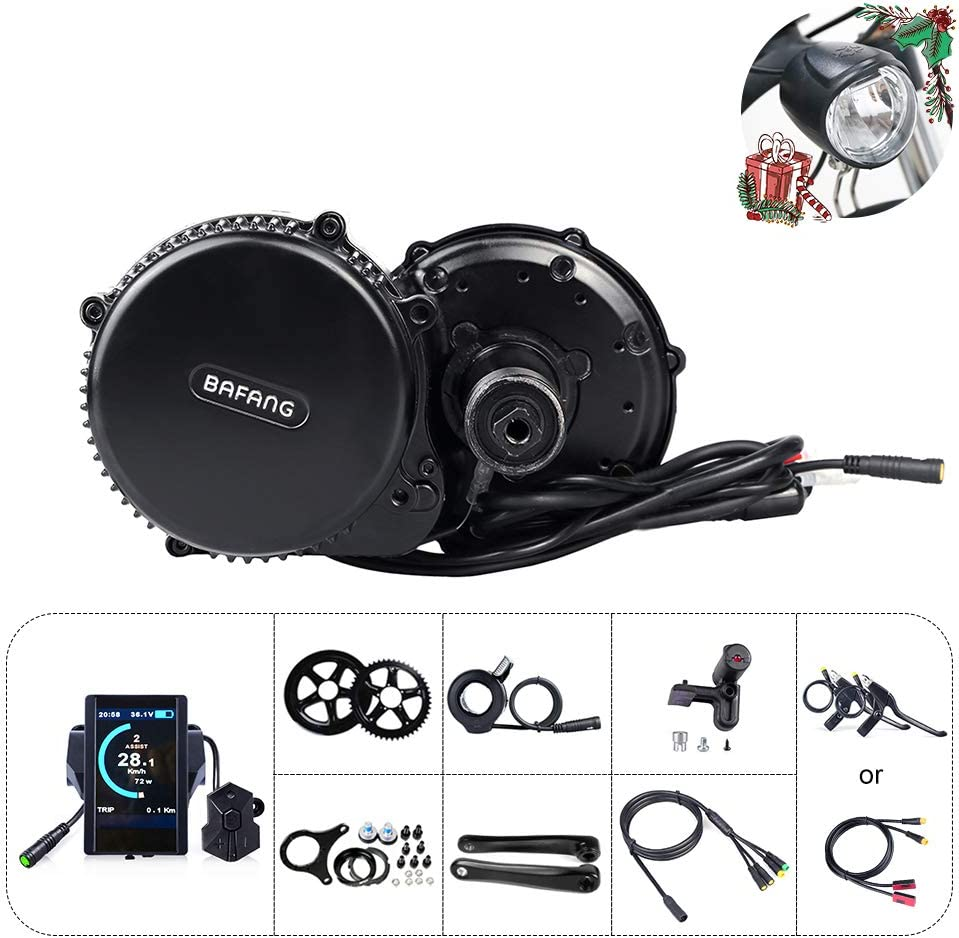 BAFANG BBS01B 48V 350W Mid Motor Drive System Kits Electric Bike Conversion Kit Ebike Accessories Optional 48V 11.6Ah//17.5Ah Battery with Charger