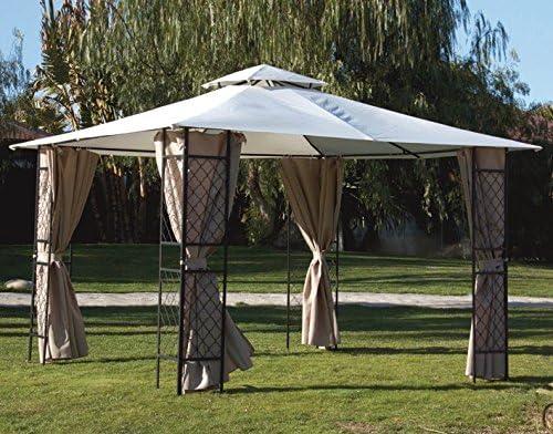 Papillon Cenador de acero con paneles angulares Sagres 3, 40 x 3, 40 x 2, 60 H m: Amazon.es: Jardín