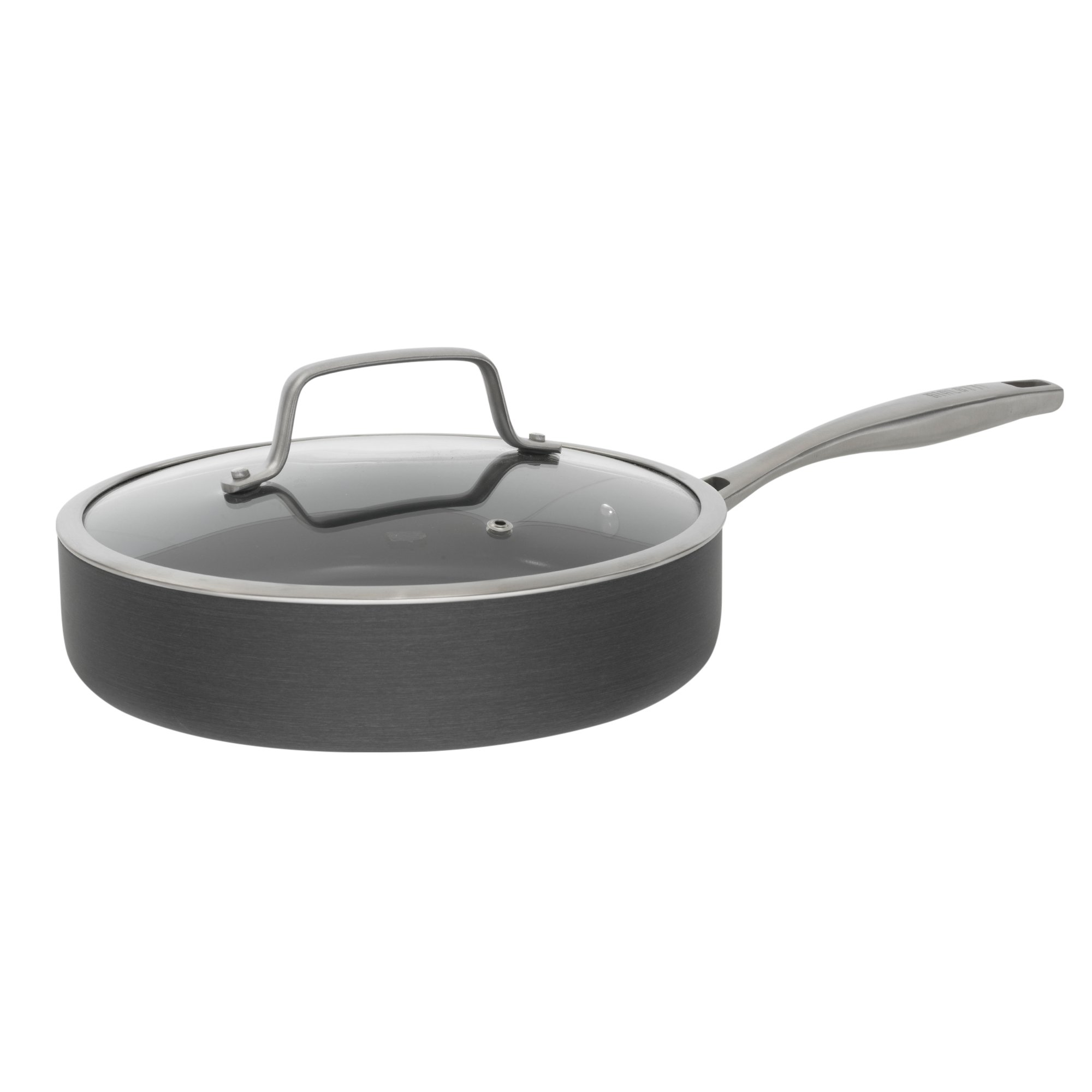 Bialetti Ceramic Pro Hard Anodized Nonstick Deep Saute Pan, 11'', Gray