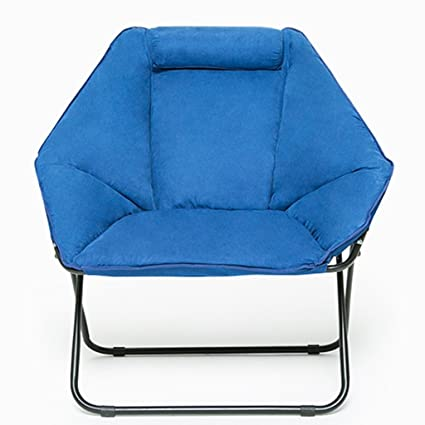Blue Moon Chair Creative Lazy Suede Fabric Tumbonas ...