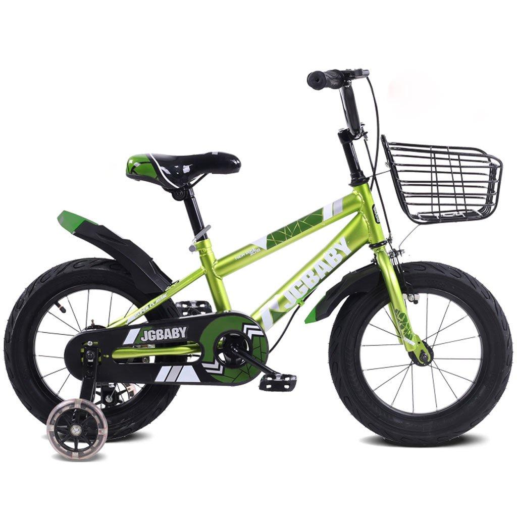 子供の自転車2-5-8歳の男性と女性のベビーベビーカー12インチ/ 14インチ/ 16インチの子供3輪ペダル自転車グリーン ( Size : 16 inches ) B07DPPFH2L