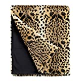 Fabulous Furs: Faux Fur Luxury Throw Blanket, Leopard, Available in generous sizes 60''x60'', 60''x72'' and 60''x86'', by Donna Salyers