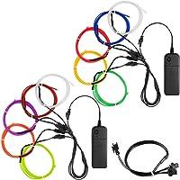 YuCool 10 Pack 3ft Portable EL Wire, luz