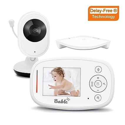Anti-Hack Encryption 4.3 Inch LCD Screen Infrared Night Vision HY Baby Monitor HD Video Baby Monitor Camera with 2-Way Audio Talk Temperature Sensor