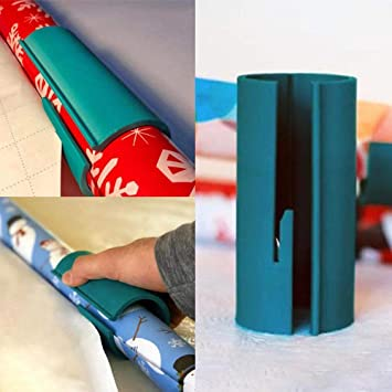 3×DIY Sliding Wrapping Paper Cutter Roll Cutting Package Paper XAMS Gifts Tool