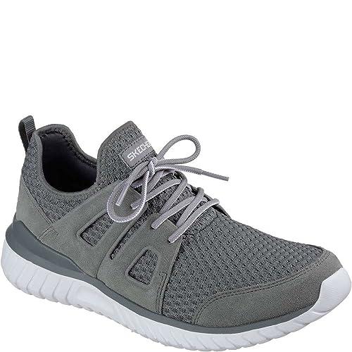 a85129f0f03 Skechers Shoes - Sneaker Rough Cut - 52822 - Charcoal: Amazon.co.uk: Shoes  & Bags