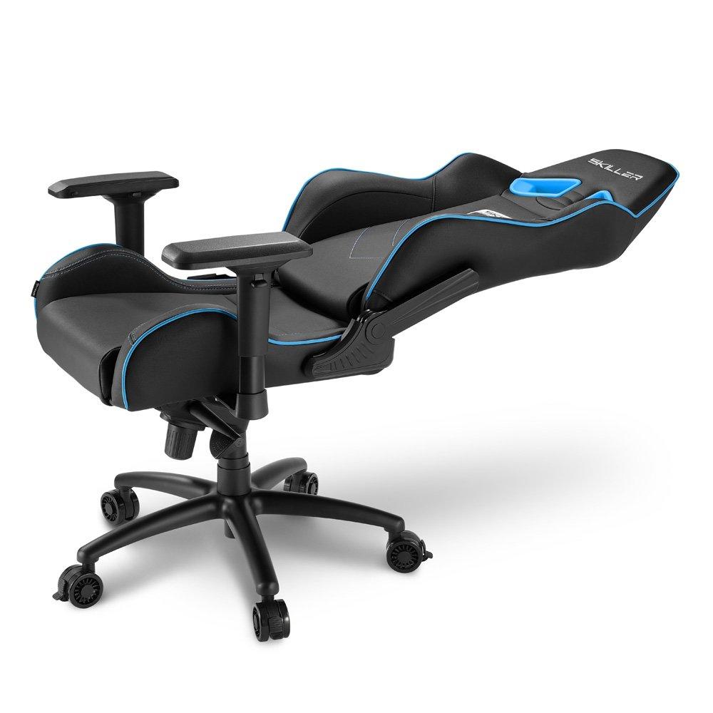 Sharkoon SKILLER SGS3 - Silla Gaming, Cuero Sintético, Acero, Negro/Azul: Sharkoon: Amazon.es: Hogar