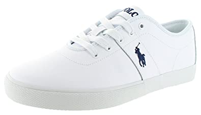 Ralph Lauren Polo Halford Men's Leather Sneakers White Size 7