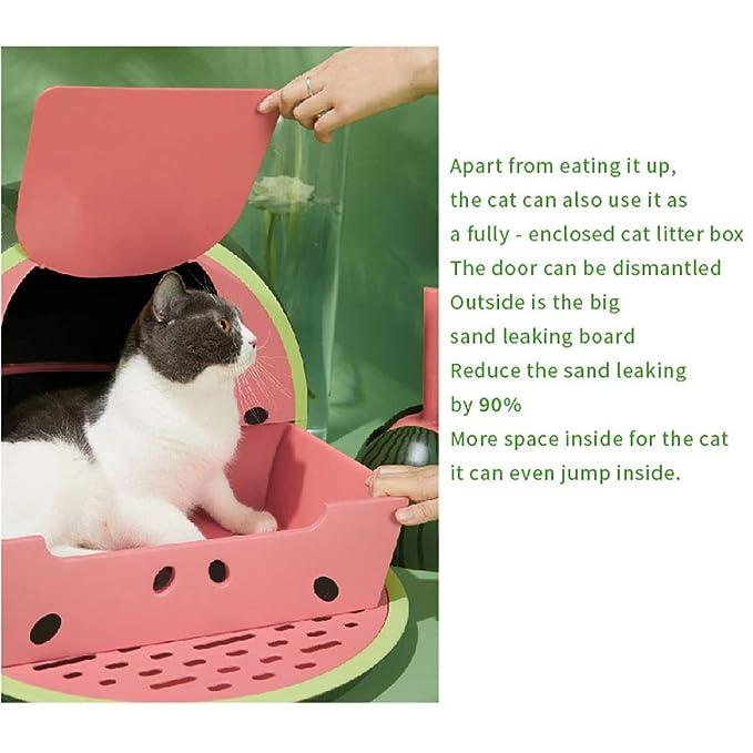 Amazon.com: DJLOOKK - Caja de arena para gatos con arenero ...