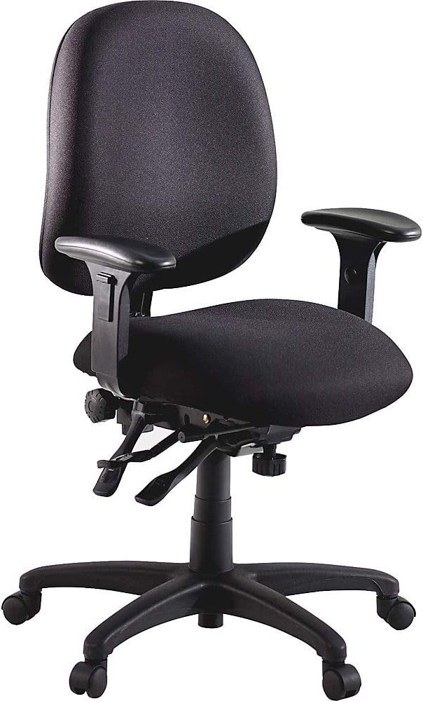 Lorell High-Performance Task Chair, 27-1/4 by 25-1/4 by 41-1/2-Inch, Black