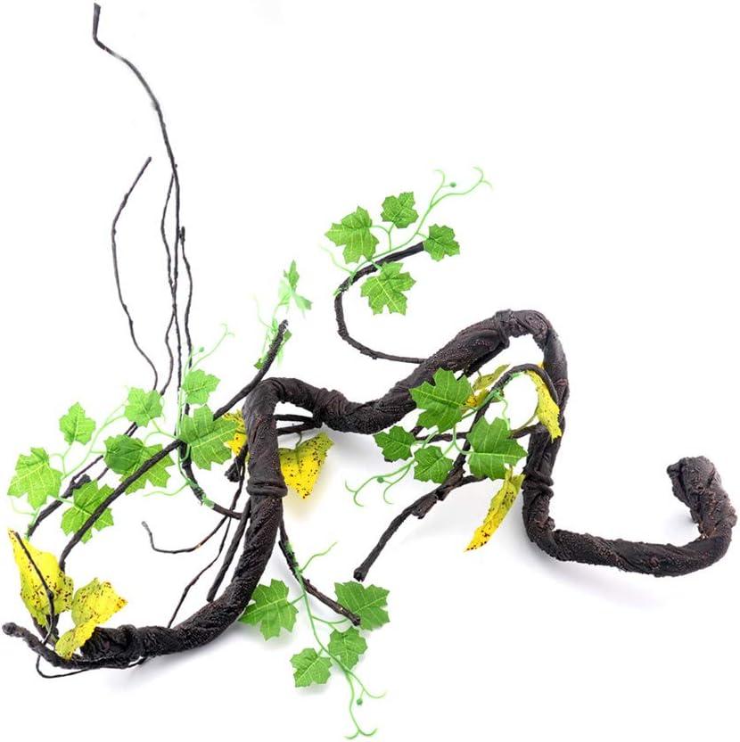 Vides de Jungle Flexibles POPETPOP Selva de Escalada Artificial para Reptiles Decoraci/ón del H/ábitat para Serpientes Ranas Lagartijas Reptiles