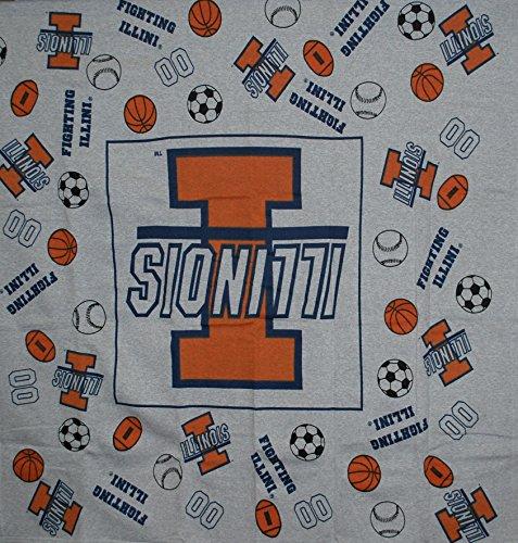 Decorative Fabrics & Linens Illinois Fighting Illini Youth Gray Blanket 45