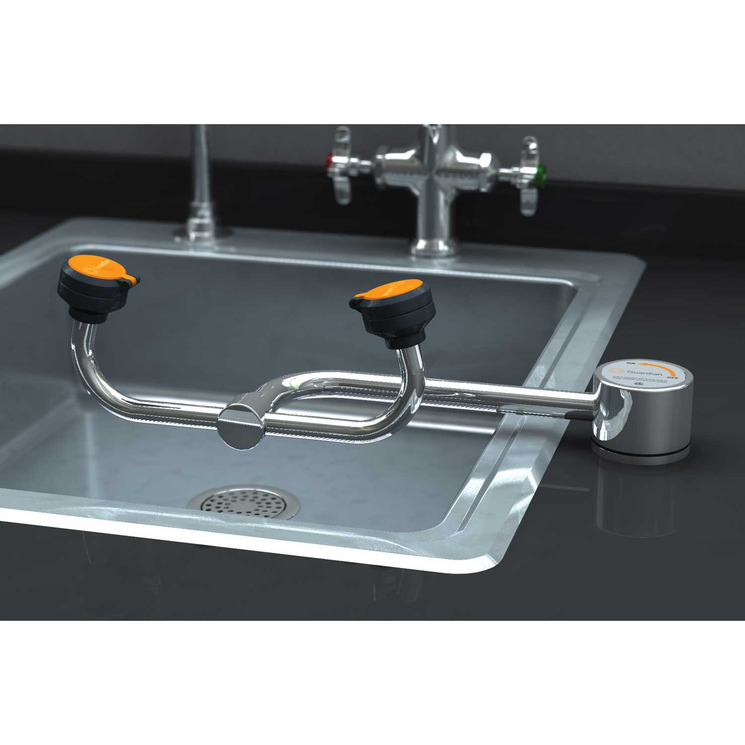Guardian G1805 AutoFlow 90 Degree Swivel Deck-Mounted Eyewash, Right Hand Mounting by Guardian