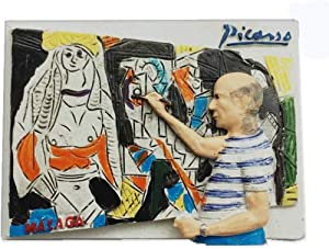 3D Pablo Picasso Famous Spanish Painter Fridge Magnet Souvenir Gift Home & Kitchen Decoration Magnetic Sticker,Picasso Spain Refrigerator Magnet 2