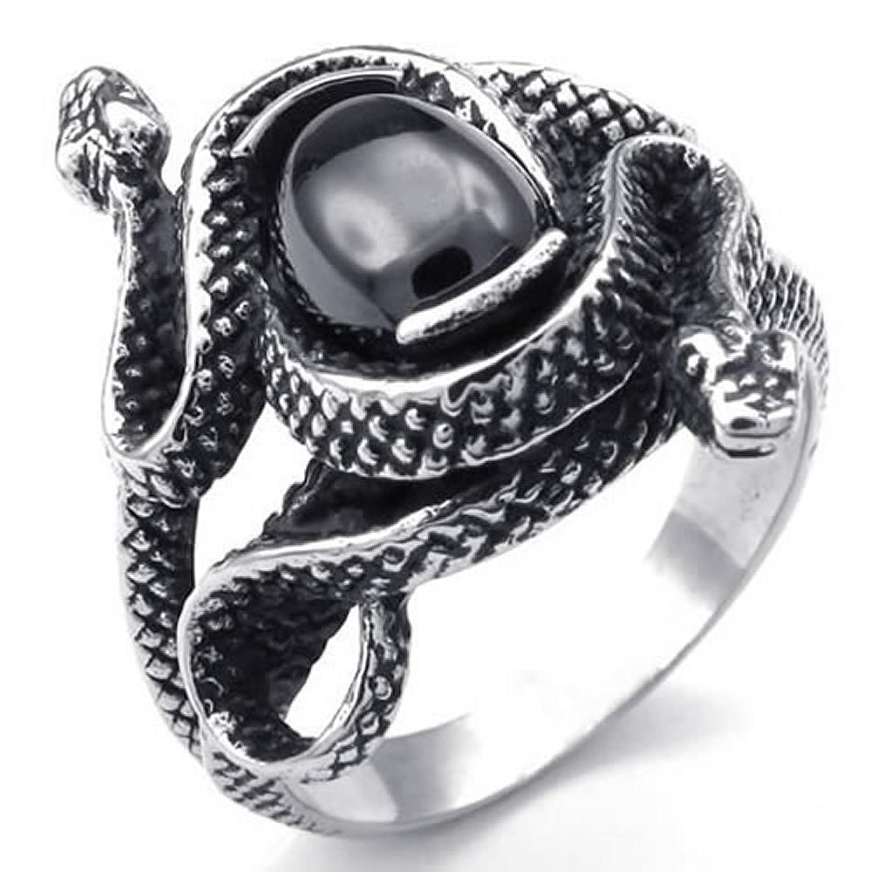 Bague femme or serpent