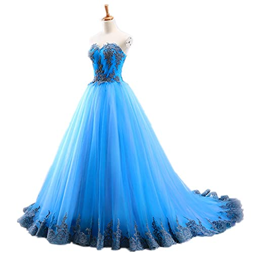 a9956f41ec98 Amazon.com: Fuffy Ball Gown Quinceanera Dresses Long sweetheart lace up  Vestidos De 18 Anos lace Prom Dress For Girls 2018 plus size: Handmade