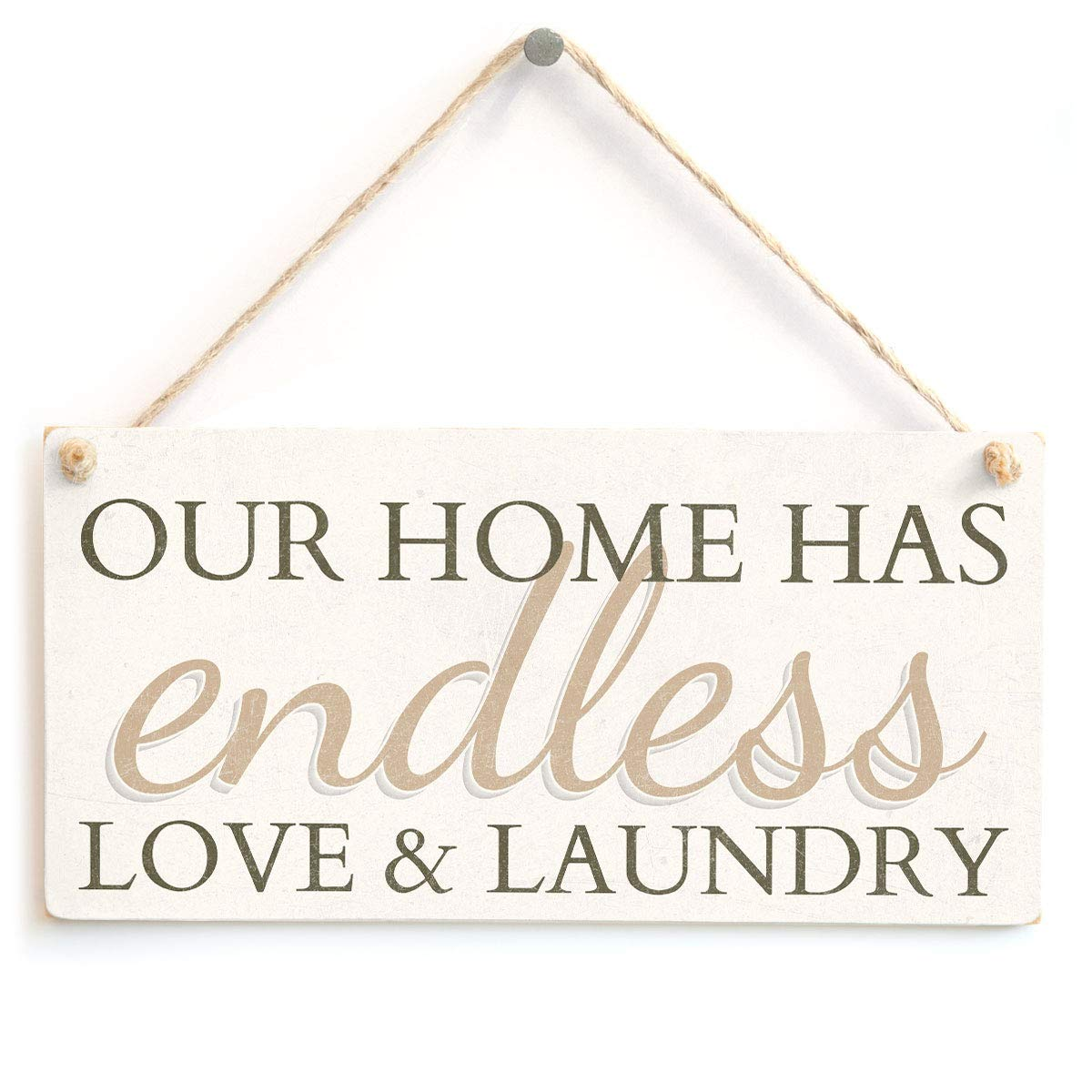 Mr.sign Endless Love & Laundry Cartel de Pared Madera Placa ...