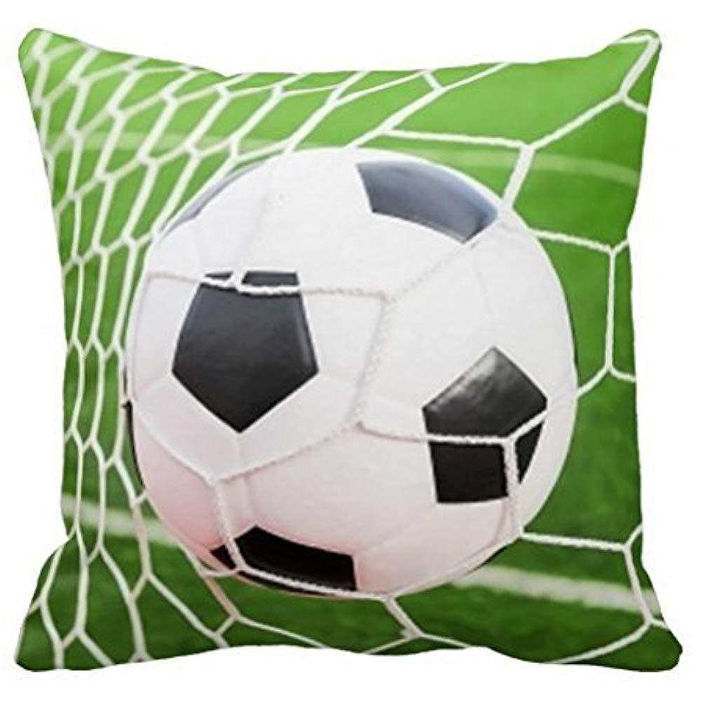 Dana34Malory Funda de Almohada de balón de fútbol 16 x 16 Pulgadas ...