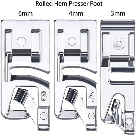 YA-Uzeun - Juego de 3 prensatelas para máquina de coser con ...