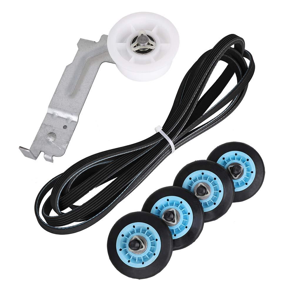 Dryer Repair Kit for Samsung - DC97-16782A Dryer Drum Support Roller, 6602-001655 Dryer Drum Belt, DC93-00634A Dryer Idler Pulley Replace AP5325135 AP4373659 AP6038887 PS4221885 PS4133825