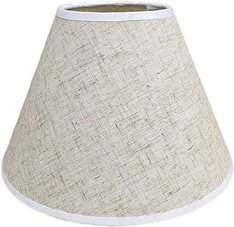 Pantalla de lámpara,Pantalla de Tela Redonda para Lampara del ...