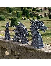 Dragon Garden Beelden Ornamenten, Grote hars Gotische Tuin Decor Standbeeld, De Draak van Moat Gazon Standbeeld, Yard Art, Grappige Hars Ornament voor Outdoor Decoratie