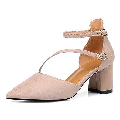 Sommer größe Schuhe, Metall quadratische Schnalle, eine Größe Sandale, Schuhe der Europäischen und Amerikanischen Frauen und Sandalen, weiß, 38