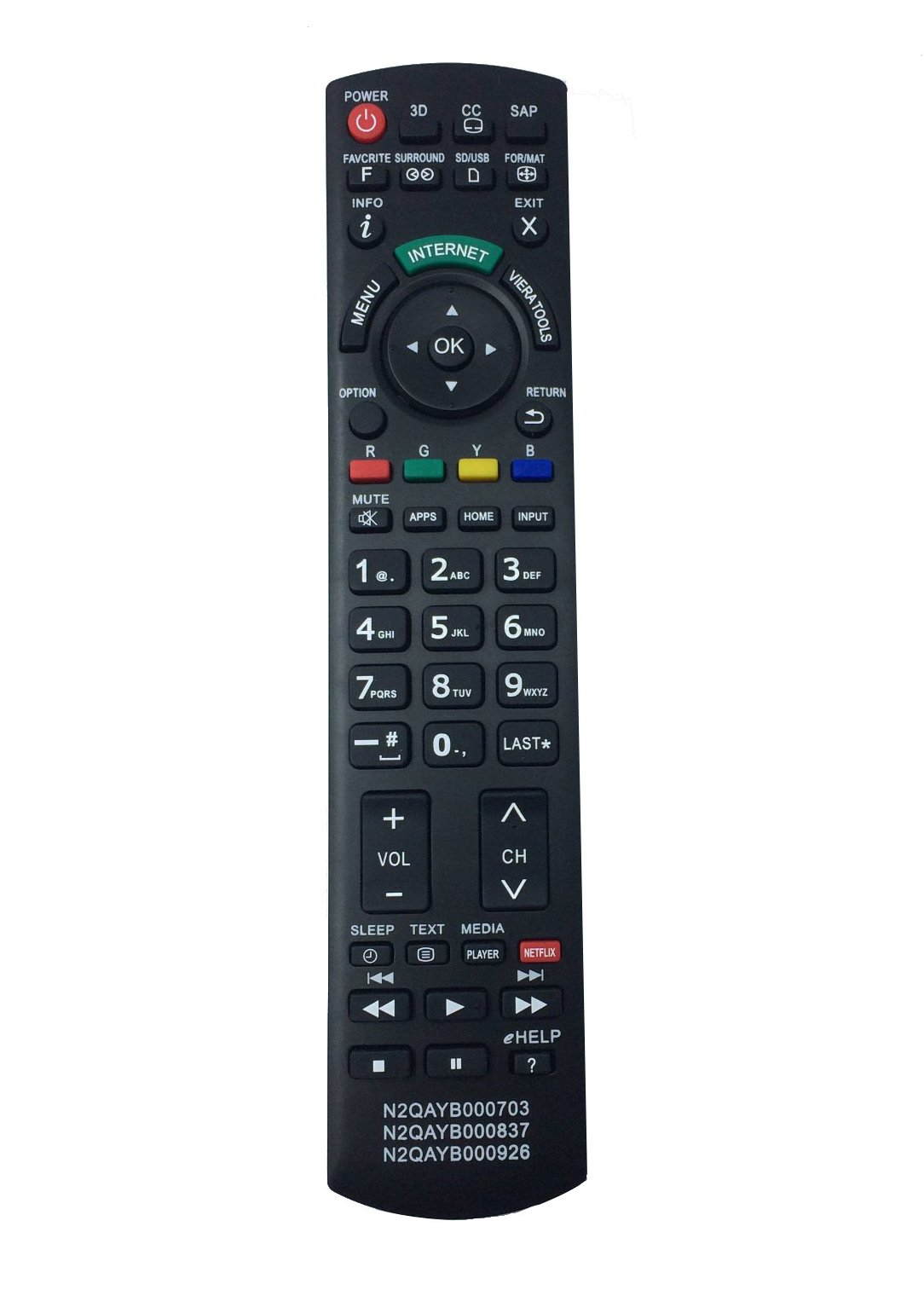 Control Remoto N2qayb000703 N2qayb000837 N2qayb000926 Pan...
