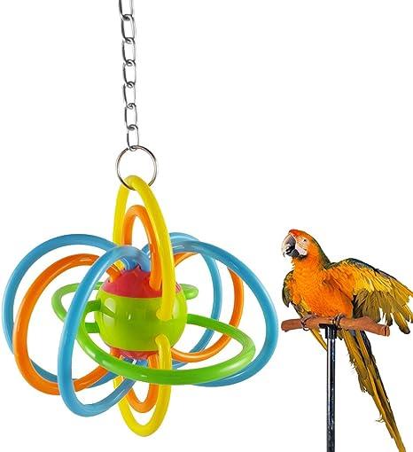 Pelota de silicona colorida para mascotas, pájaros, loro ...