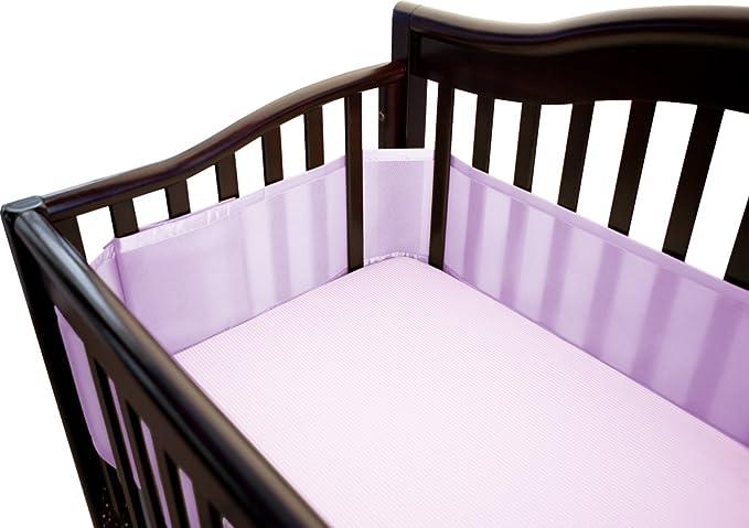 Lavender BreathableBaby Mesh Crib Liner