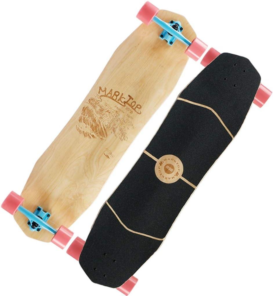 KTYXDE スケートボードロングボード下り坂ボードブラシストリート初心者ロングボードロードボードオールラウンドボード若い大人の女の子初心者の男の子と女の子に適した (Color : B) B