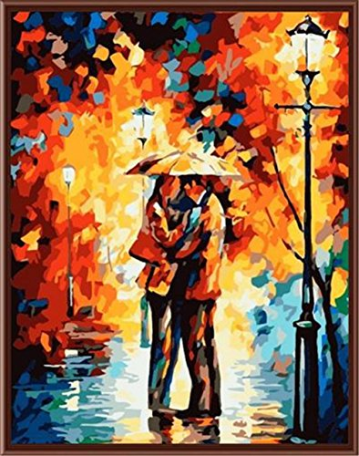 ShuaXin Diy Oil Painting Paint by Number Kits Romantic Night