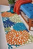 Nourison ALH05 Aloha Area Rug, 2' x 6', MULTICOLOR