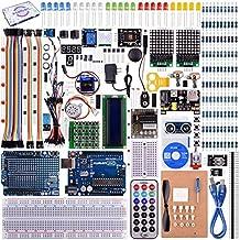 kuman UNO R3 Project Complete Starter Kit with Tutorial for Arduino UNO Board Mega2560 Mega328 Nano (66 Items)K27