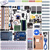 kuman UNO R3 Project Complete Starter Kit with Tutorial for ArduinoUNO Board Mega2560 Mega328 Nano (66 Items) K27