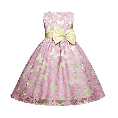 Minuya Minuya Kinder Mädchen Kleider Schmetterling Blumen Mädchen ...
