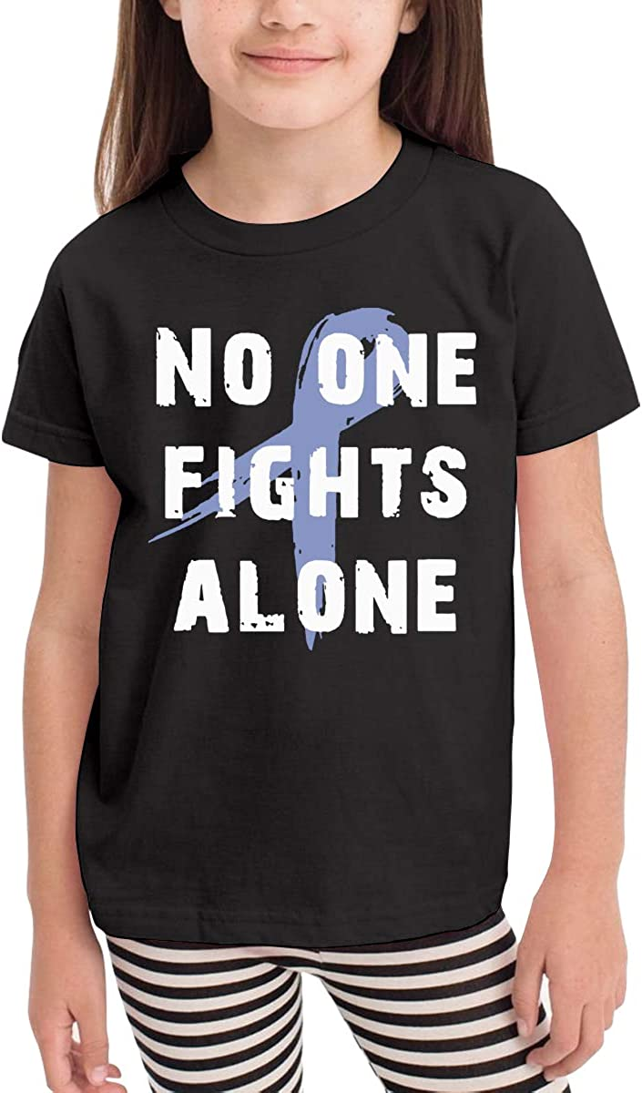 Boys/&Girls No One Fights Alone Personality T-Shirt Short Sleeve Tee for 2-6 Years Old