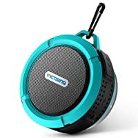 VicTsing Bluetooth Shower Speaker, Mini Portable Waterproof Bluetooth Speaker Hands-Free Speakerphone (with Buit-in Mic, Superior Sound, Blue)