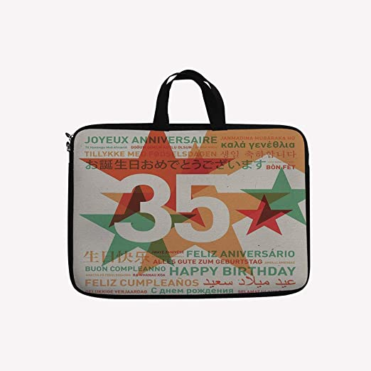 Amazon.com  3D Printed Double Zipper Laptop Bag,Greetings in Different  Languages Old Fashion,14 inch Canvas Waterproof Laptop Shoulder Bag  Compatible with ... a98aaead691