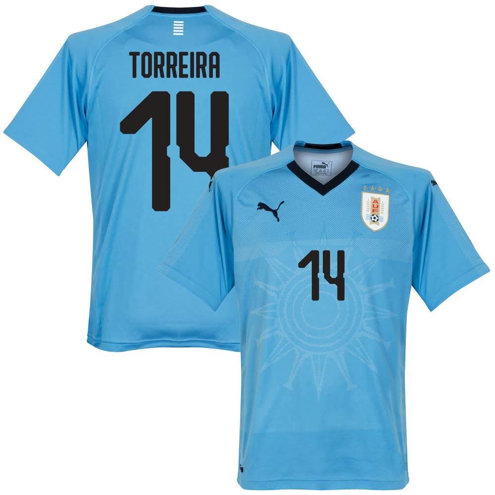 Uruguay Home Trikot 2018 2019 + Torreira 14 (Fan Style)