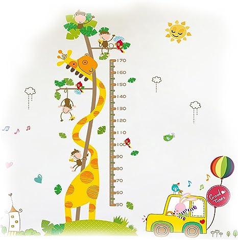 Beb/é Gr/áficos de Crecimiento Altura Tabla de Crecimiento Colgar en la Pared Regla Medidor Para Ni/ños de pared de Dormitorio Infantil Guarder/ía Decoraci/ón Jirafa