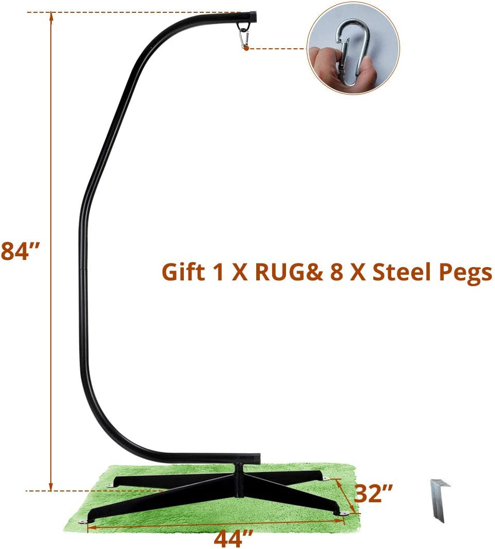 """Zupapa Steel C Hammock Frame Stand - 83"""" Height - 350 lbs Weight Capacity"""