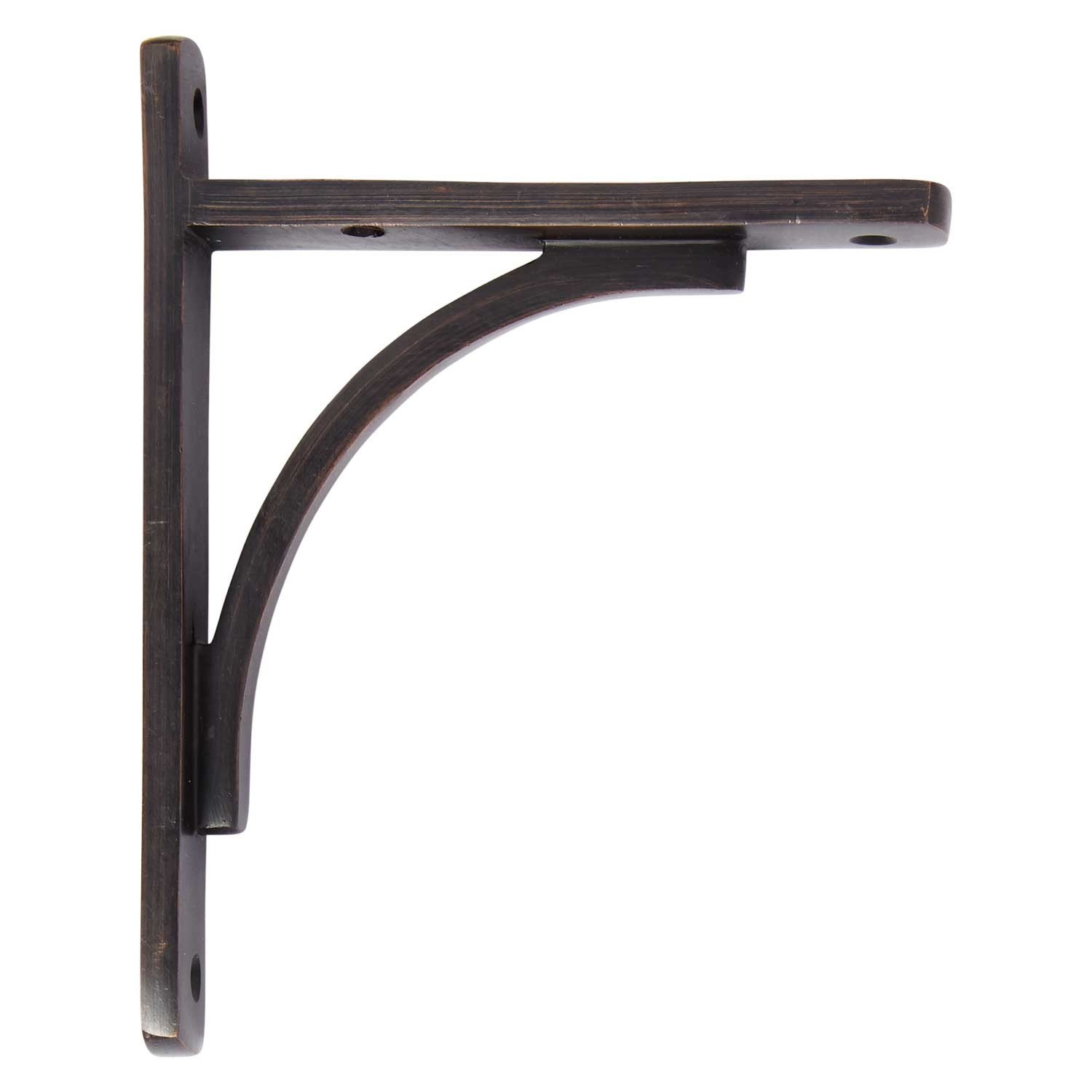 Naiture Brass Rustic Shelf Bracket In Oil Rubbed Bronze Finish by SH