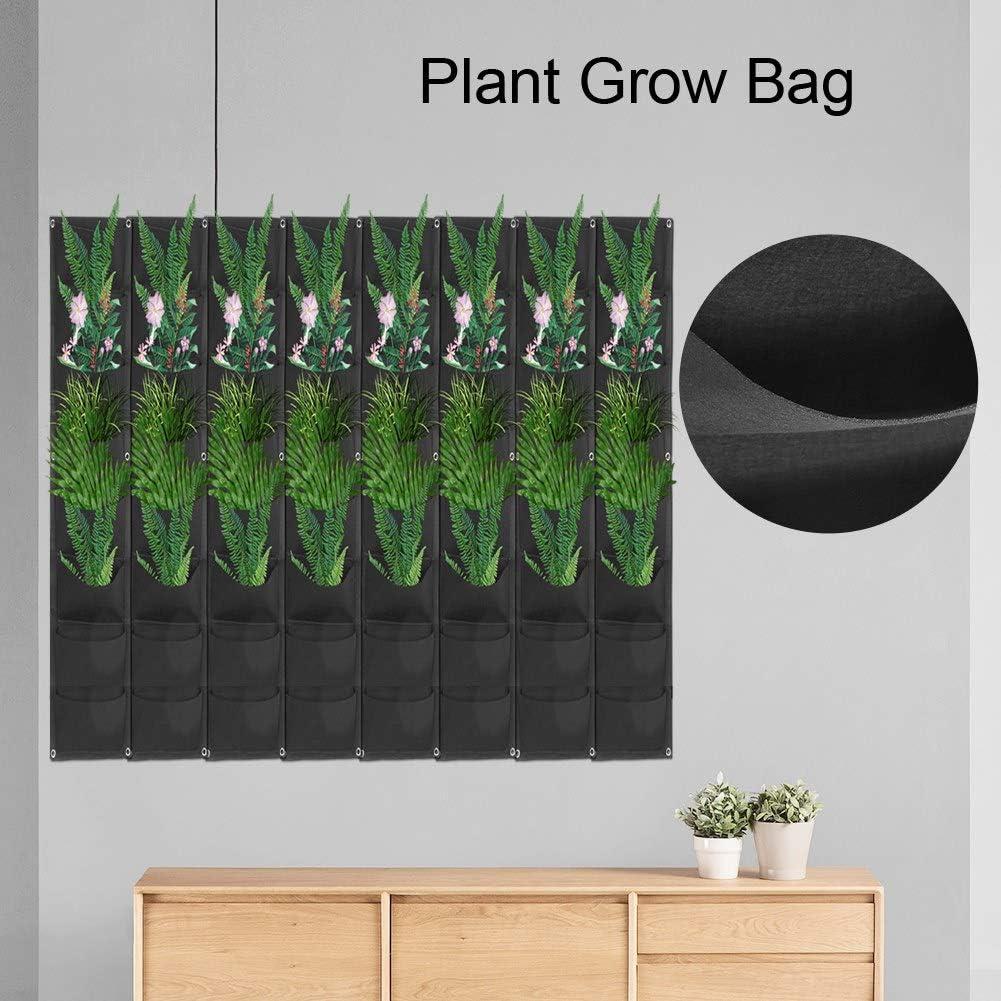 l/égumes Culture de Sacs r/écipient de Fleurs pour la Plantation de Fleurs Famus Sacs de Plantes murales 56 Poches #1 Plantes de Feuillage Fraises Plante Suspendue