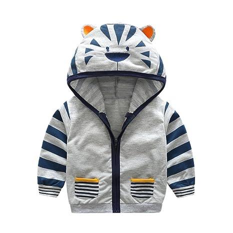 huhu833 abrigos, bebé niño Niña Cartoon Animal con capucha ...