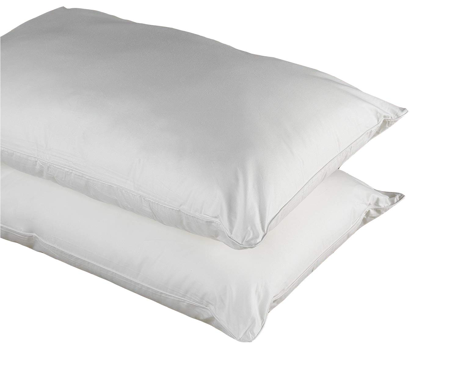 Original Sleep Company Pure Cotton Anti Allergy Pillow Pair with Spiral Fibre Filling - Ideal for Asthma, Eczema and Allergy Sufferers