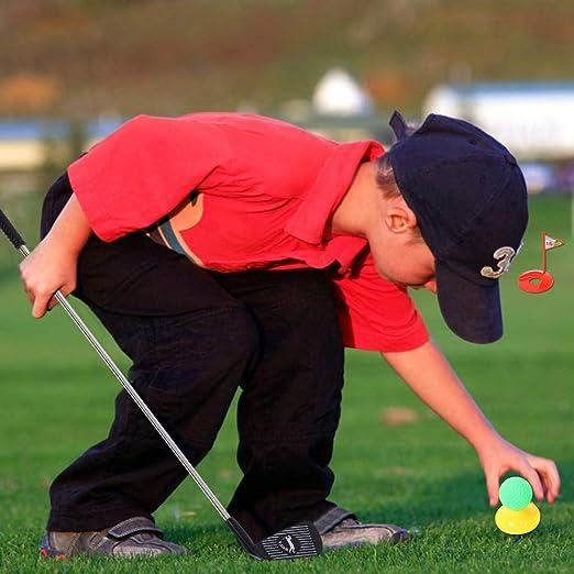 Juego de Juguetes Para Palos de Golf, Juego de Regalo de Juego de Golf Juguete Educativo 3 Palos de Golf + 3 Bolas de Colores + 2 Camisetas de Golf + ...