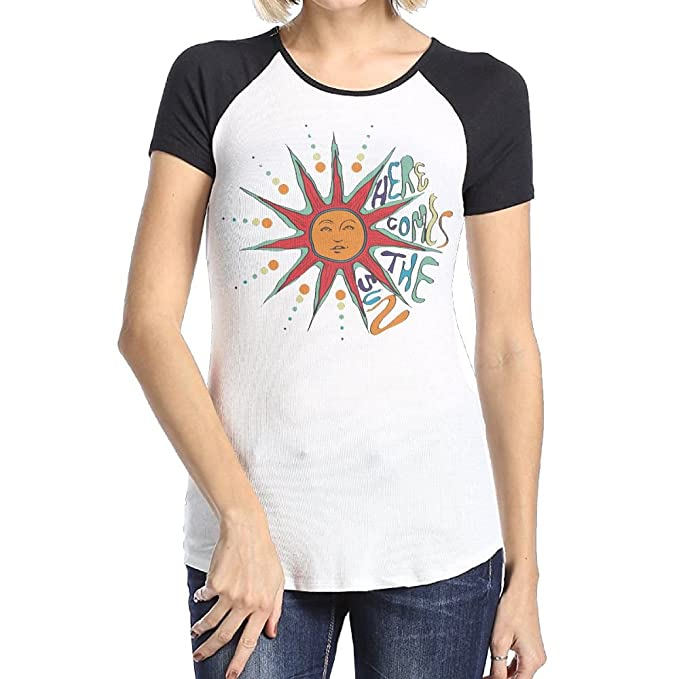 cd0d7a56dcd8 Amazon.com  YUYU Womens H-here Comes The Sun 2 Fashion Travel Short ...